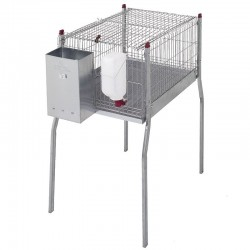 Rodent cage with large padas