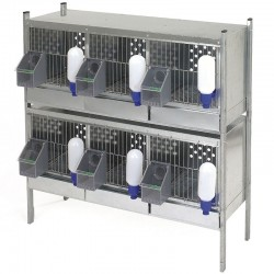 Partridge cage 6 compartments