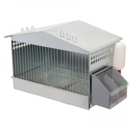 Partridge cage 1 department 52.5 x 31 x 36 cm galvanized
