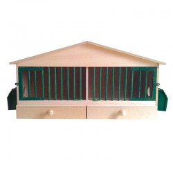 Wooden cage 2 departments 76