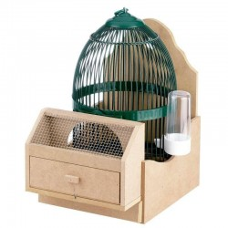 Claim cage with support and drinker