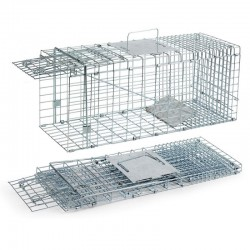 Medium rodent capture cage 24 x 64 x 26 cm