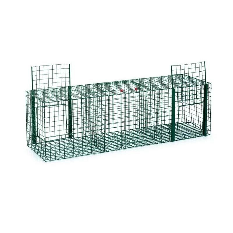 Cage captures pigeons 3 departments 90 x 30 x 30 cm