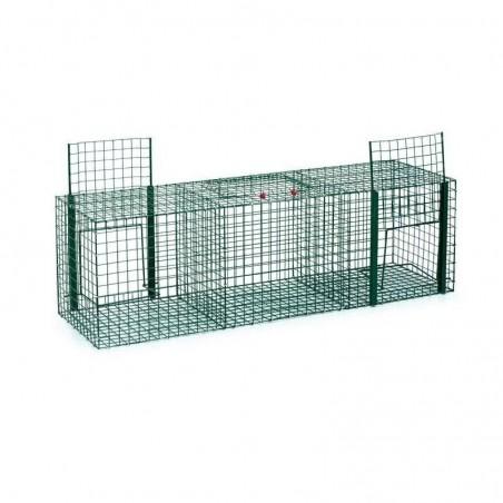 Jaula captura palomas 3 departamentos 90 x 30 x 30 cm