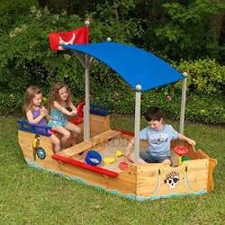 Barco pirata arenero de madera Kidkraft