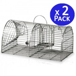 Multi-capture cage 2 departments 44 x 22 x 19 cm. 2 units