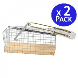 Medium mousetrap 9,5 x 27 x 9,5 cm. 2 units