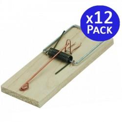 Ratonera tabla de madera 7 x 17 cm. 12 unidades