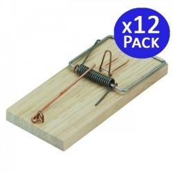 Ratonera tabla de madera 6 x 13 cm. 12 unidades