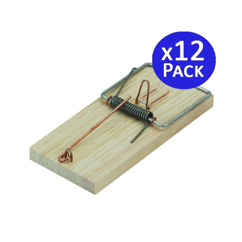 Wooden table mousetrap 6 x 13 cm. 12 units