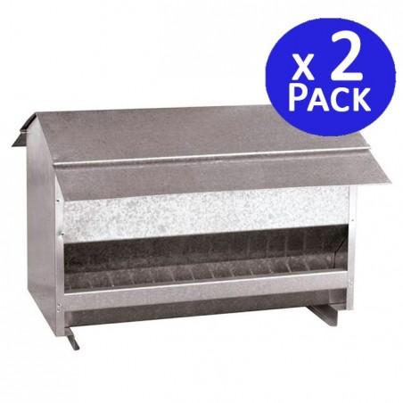 Galvanized feeder 50 x 44 x 36 cm. 2 units