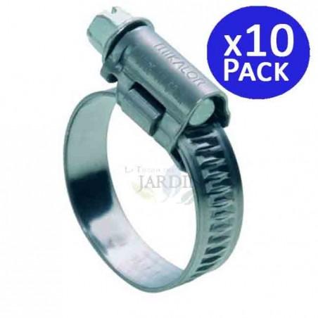 Abrazadera metálica Ø 25 - 40 mm. 10 unidades