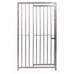 Frente para Boxes con barras 8cm de separación con puerta para perros