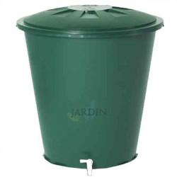 Round 300 liter polypropylene rainwater tank