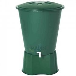 Depósito de agua de lluvia redondo 200 litros + Base