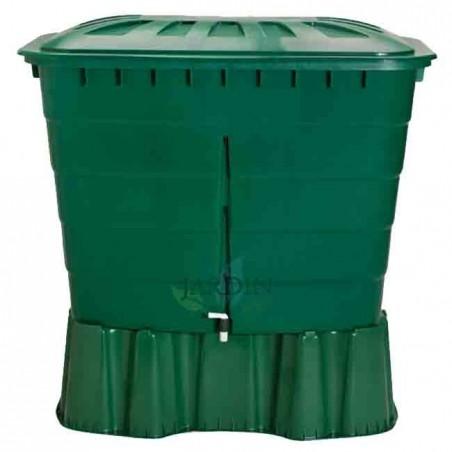 Depósito de agua de lluvia rectangular 500 litros + Base