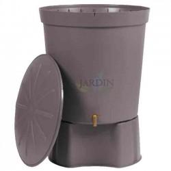 Gray 300 liter rainwater tank + Base