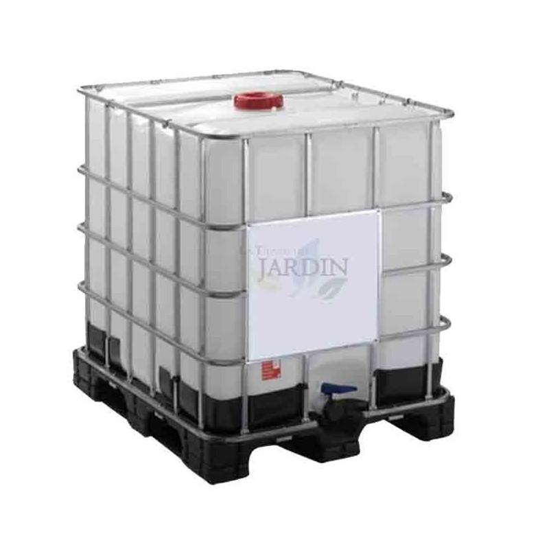 Depósito 1000 litros transporte líquidos sobre palet