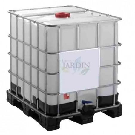 Tank 1000 liters liquid transport on pallet