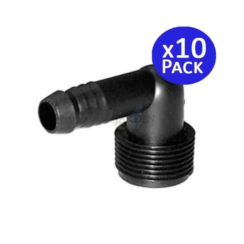 "Codo Funny Pipe 16mm x 1/2"". 10 Unidades"