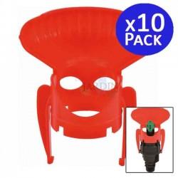 Rotary circular agricultural sprinkler deflector. 10 units