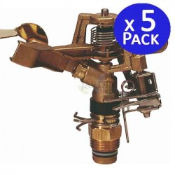 "24º 1/2 ""sectorial brass sprinkler, 9 to 14 meters. 5 units"