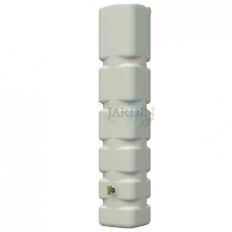 300 liter polyethylene tank 42x40x210 cm beige