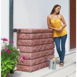 Depósito imitación piedra rojiza 400 litros