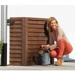 Depósito polietileno pared 350 litros imitación madera rústica