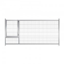 Frente malla con puerta para perros pequeños 150x100 cm