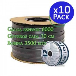 Drip irrigation tape 16mm 35,000 meters. Thickness gauge 6 thousand. Droppers 1.5 l / h every 30 cm
