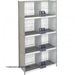 Dove cage galvanized sheet 8 departments with legs with wire