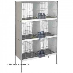 Galvanized sheet pigeon cage 6 departments with legs