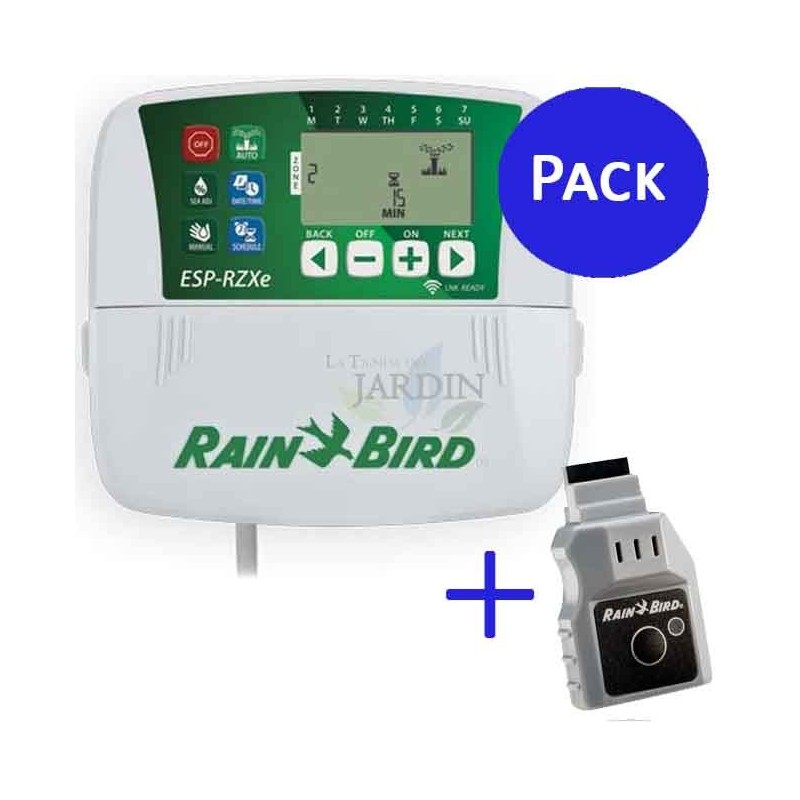 Wifi LNK + Programador Rain Bird RZX 6 zonas interior