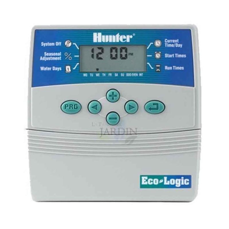 Programador de riego Hunter ELC 6 zonas interior