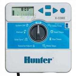 Programador de riego Hunter XCore 4 zonas interior