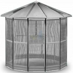 Galvanized birdhouse cage 12 sides 232 x 255 cm
