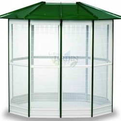 Aviary cage 14 sides 232 x 255 cm