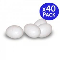 Huevos de plástico de pájaros. 40 unidades