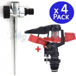 "1/2 ""sectorial agricultural sprinkler kit + metal skewer. 4 units"