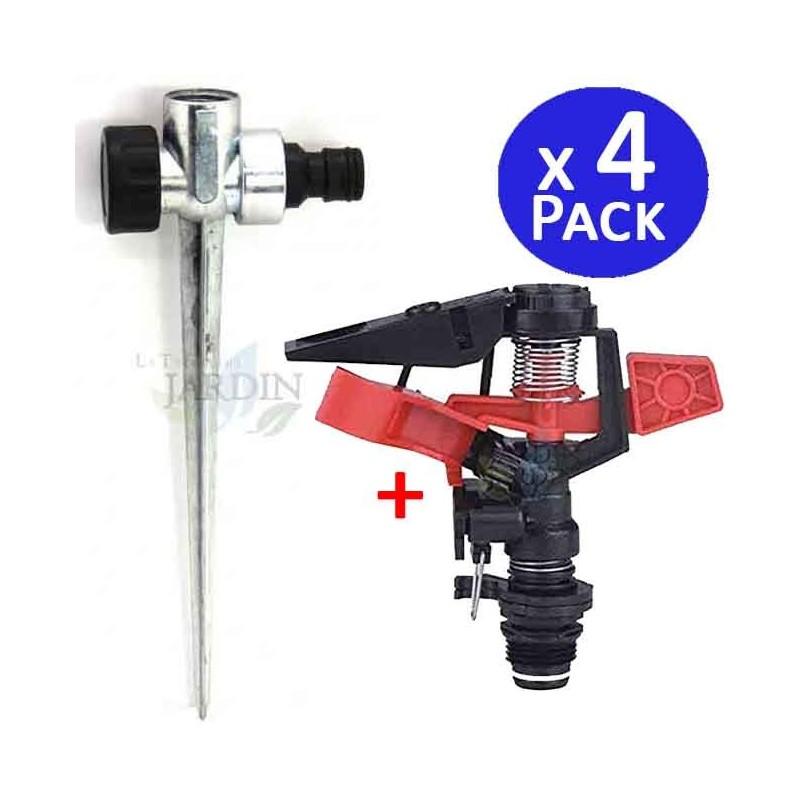 "1/2 ""sectorial agricultural sprinkler kit + metal skewer. 4 units"