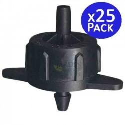 Goutteur auto-compensateur amovible de 4 l / h. 25 unités