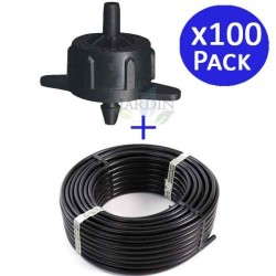 Dripline 16mm 100 meters + 100 self-compensating drippers 4 l / h detachable