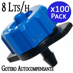 100 detachable self-compensating drippers 8 l / h