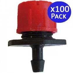 Gotero rojo regulable 0 a 70 l/h. 100 unidades
