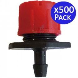 Einstellbarer roter Tropfer 0 bis 70 l / h. 500 Einheiten