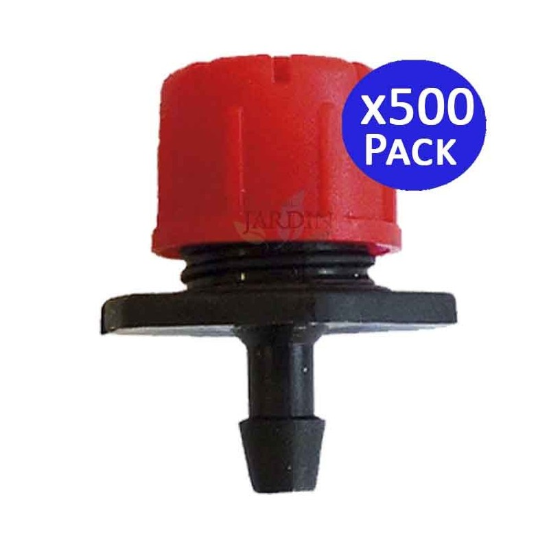 Adjustable red dripper 0 to 70 l / h. 500 units