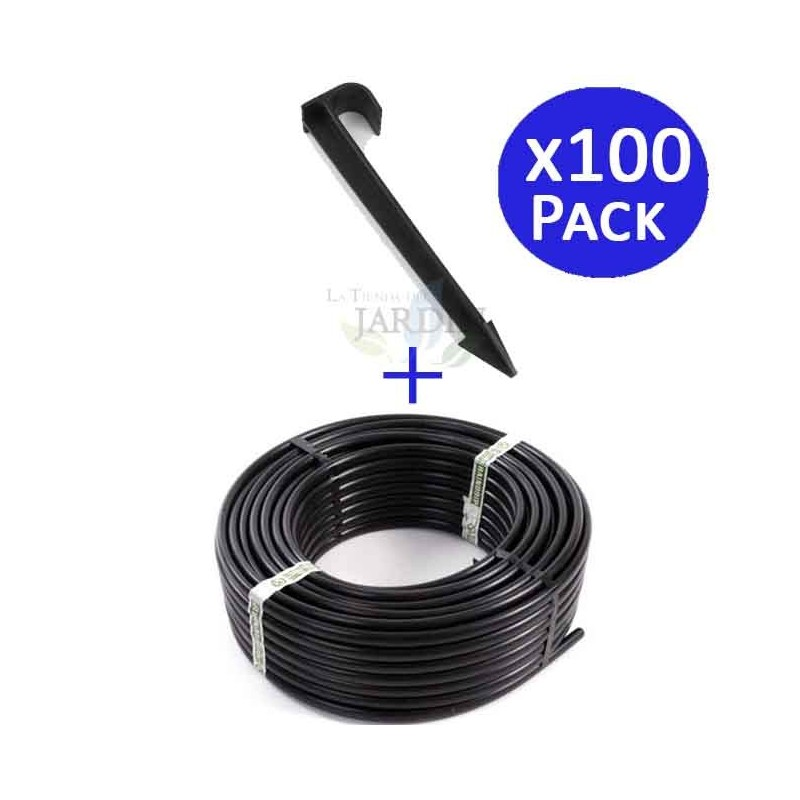 Drip pipe 16mm 100 meters + 100 supports