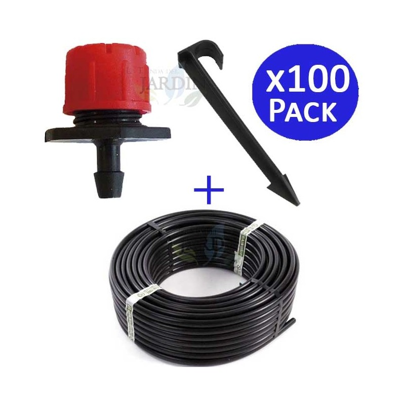 MICROTUBO Flexible 2 x 3 mm Tubo de color NEGRO Bobina 200 METROS Tuber/ía utilizada para riego por goteo Tuberia de alta calidad fabricada en Espa/ña