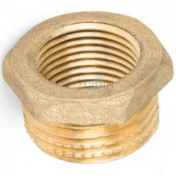 "Brass nut 1/2 ""male x 1/4"" female"